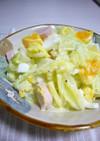 茹でキャベツとゆでたまごのマヨサラダ