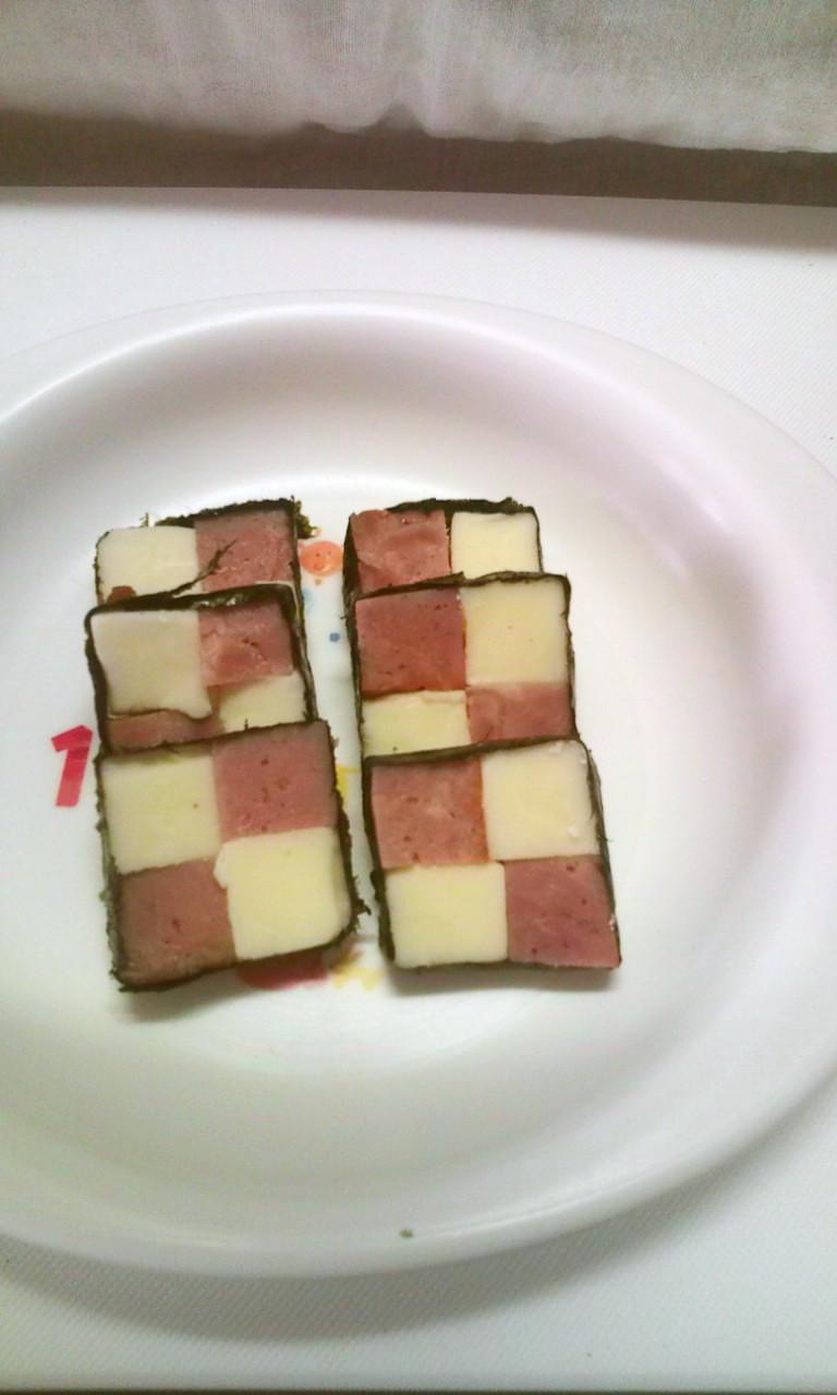 ハムとチーズの市松模様~おせちにも~