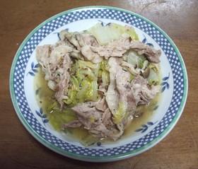 かんたん白菜豚(市販の蒸し鍋の素利用)