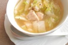 ささみと白菜の春雨スープ
