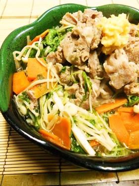 豚しゃぶしゃぶ肉と水菜のサッと煮