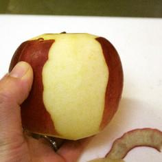【裏技】りんごのスピート皮むき