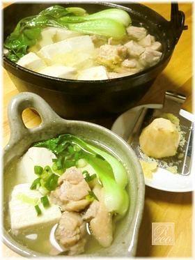 鶏だしスープno生姜ほっこり湯豆腐鍋♪