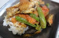 トルコ風◇鶏とししとうと茄子のトマト煮