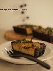 洋梨のタルト・ココア風味。の写真