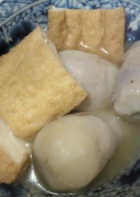 京えび芋(里芋)と厚揚げのかんたん煮物