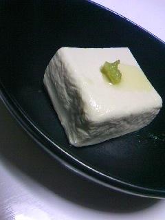 基本の塩豆腐