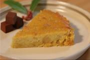 栗の甘露煮とサツマイモのケーキの写真