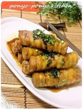なんちゃってステーキ✾高野豆腐の肉巻き