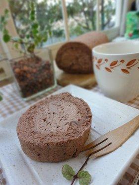 チョコロールケーキ もうすぐバレンタイン
