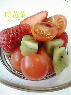 簡単☆バルサミコ酢で作るフルーツサラダ