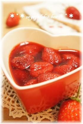 レンジで簡単❀春のダイエット苺ジャム❀