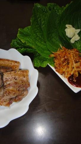 魚焼き機で簡単!韓国焼き肉サムギョプサル