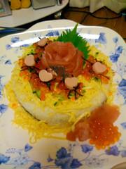 お寿司ケーキの写真