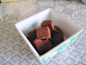 電子レンジで簡単☆生チョコ