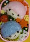おいしい青色ご飯でキャラ弁☆キキララ編