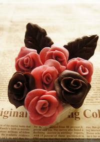 * バラの花 ❤ プラスチックチョコ♪