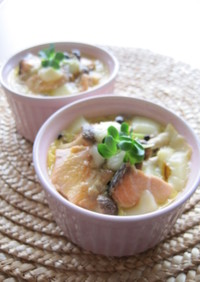 鮭と白菜の和風チーズココット