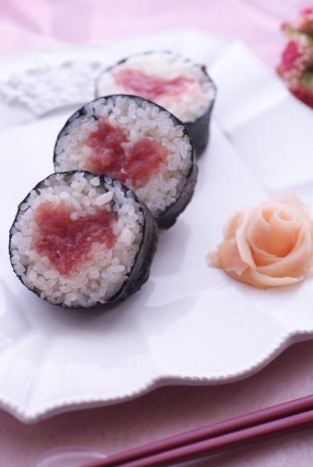 節分に★ハートの巻き寿司(恵方巻き)