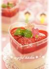 ひな祭り❀ダイエットに苺の簡単豆腐プリン