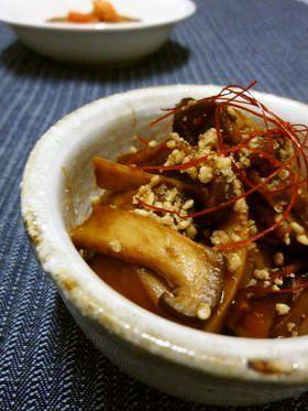 エリンギの 青じそ+甜麺醤風味煮
