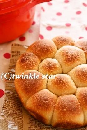 ストウブで♪卵・乳製品不使用☆ちぎりパン