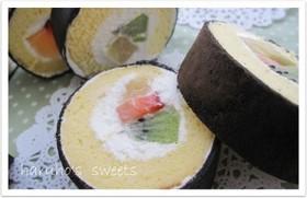 節分に☆恵方巻風ロールケーキ