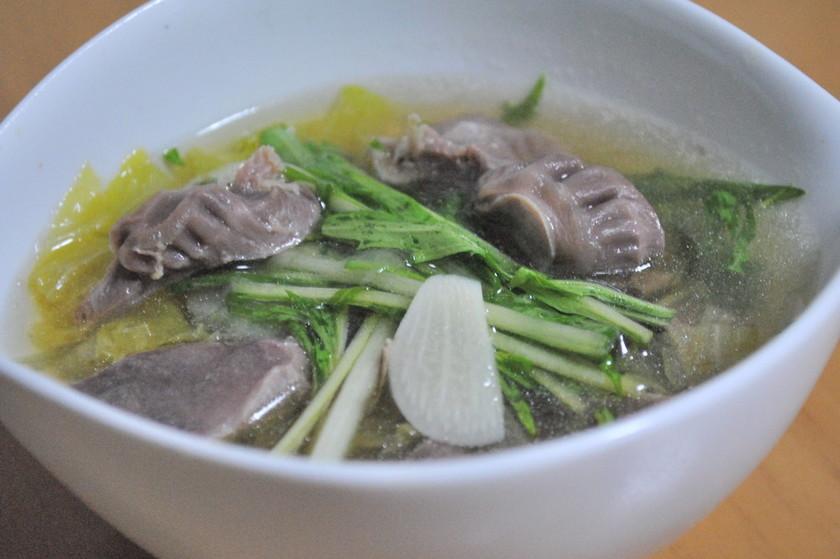砂肝の中華スープ