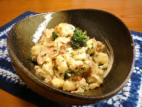 レンジで簡単、鍋要らず! 鮭のポテサラ