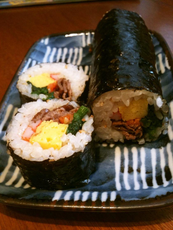 韓国風の巻き寿司キンパ☆恵方巻きにも簡単