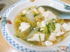 簡単★白菜と豆腐のあんかけ