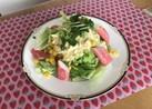 タルタルドレッシングで野菜サラダ