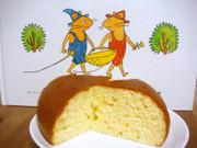 ぐりとぐらのケーキ(炊飯器使用)の写真
