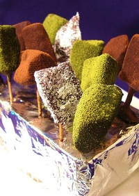 バレンタイン★干し芋のチョコフォンデュー