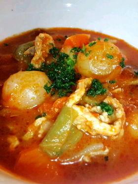 ラム肉のトマトスープ