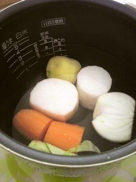 炊飯器で離乳食☆初期☆ゆで野菜