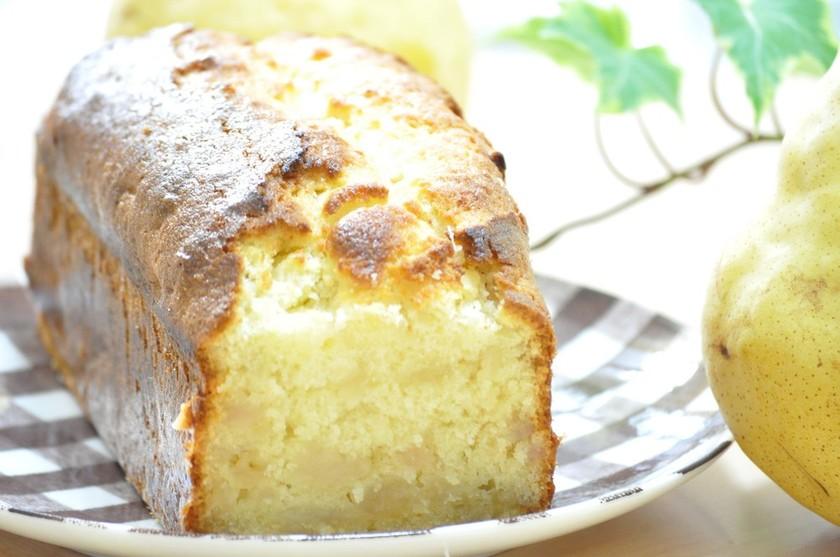 HMで簡単♡洋梨パウンドケーキ