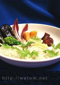 イタリア野菜のしらすみぞれソース添え