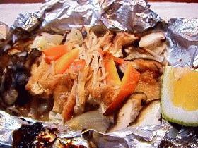 鮭のチャンチャンホイル焼き