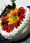 豪華!フルーツデコレーションケーキ