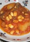 スペアリブと大豆のトマト煮込み
