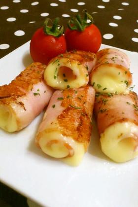お弁当に*とろ〜りチーズのベーコン巻き