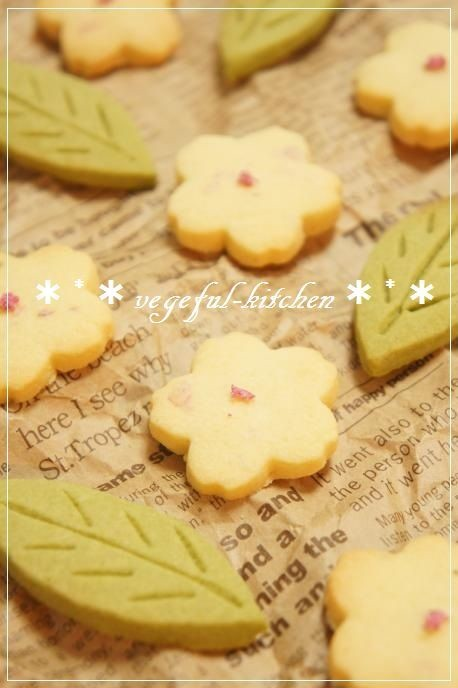春❀お花見に桜サクサク米粉の簡単クッキー