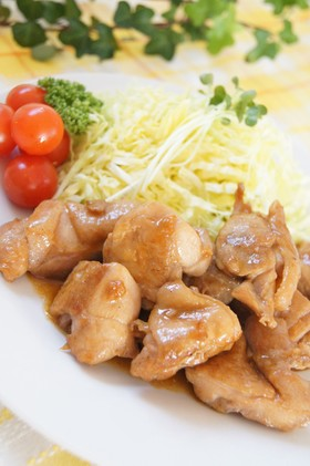 鶏肉のニンニクバター醤油炒め✿