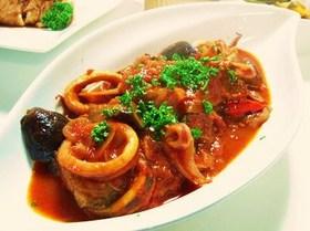 イカと茄子のトマト煮