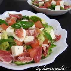 美味☆生ハム&モッツァレラチーズのサラダ