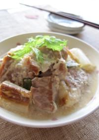 豚肉と長葱のミルク味噌煮