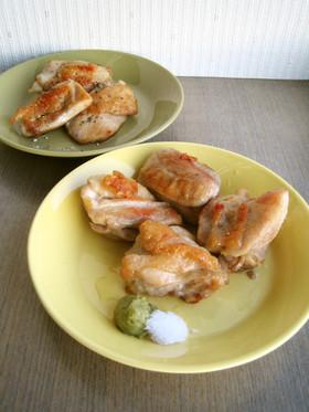 鶏もも肉のカリカリ塩焼き☆2種