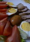 余った焼そばのソースで簡単味付け卵!
