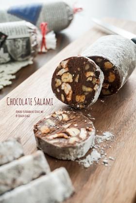 ざくざくナッツのチョコレートサラミ